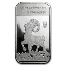 1 oz Silver Bar - APMEX (2015 Year of the Ram) - SKU #82637