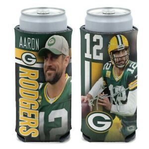 AARON RODGERS GREEN BAY PACKERS SELTZER SLIM CAN COOZIE KOOZIE COOLER HOLDER