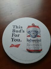 Lot Of 4 Budweiser Coasters This Bud's For You New