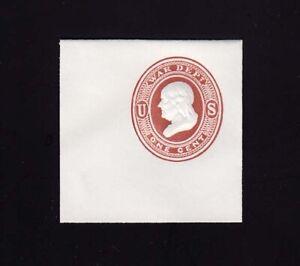 UO18 1c Dark Red on White, 50 x 50 Full Corner, Scott Cat 500.00