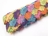 2 yards Fruit shape Cotton Crochet Lace Trim Wedding Bridal Ribbon Sewing Craft