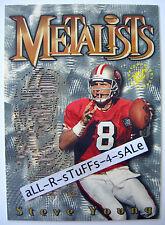 1995 Topps TSC Stadium Club STEVE YOUNG Diecut METALISTS 49ers BYU Rare HOF #M8