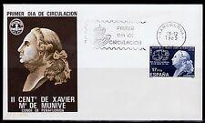 ESPAÑA SOBRE 1º DÍA 1985 2824 CONDE PEÑAFLORIDA. MUNIVE
