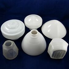 7 RETRO SHADES LOT Vintage Ceiling Lights MILK GLASS Frosted ART DECO Light Lamp