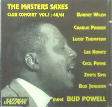 CD THE MASTER SAXES - club concert vol 1, meet Bud Powell, Konitz, Parker, Sims