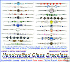 20 BRACELETS MURANO GLASS BEAD PERU JEWELRY WHOLESALE