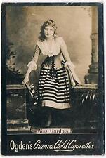 Vintage Ogden's Guinea Gold Tabs Cigarettes Miss Gardner Tobacco Card