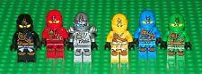 LEGO - 2015 NINJAGO - Cole, Jay, Zane, Lloyd, Kai & Skylor - 6 Minifigure Lot