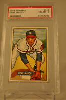 1951 Bowman - Gene Mauch - #312 - PSA 8 - NM-MT