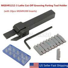 Mgehr1212 3 Lathe Cut Off Grooving Parting Tool Holder 10pcs Mgmn300 Inserts