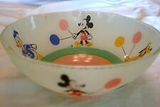 Vintage DISNEY CHARACTERS CEILING LIGHT FIXTURE Frosted  w/ Mickey Pluto Donald