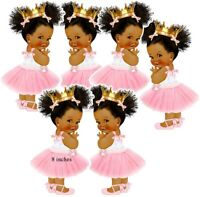 Pink Princess Cutouts African American Baby Shower Birthday Decor