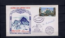 Nepal Expeditionsbrief 1978 Dr.Warth m.Autogr.3 Stempel Katmandu-Makalu (B-800)