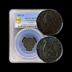 1882 Great Britain Farthing - PCGS XF45 - H Mintmark