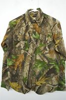 Wells Creek Realtree camo flannel camouflage thick shirt jacket XL boys kids#547
