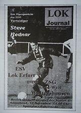 Programm 1998/99 ESV Lok Erfurt - ZSG GW Waltershausen