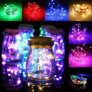 1M 10 LED String Fairy Lights Battery Operated Christmas Wedding Party Decors