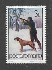 Art Body Portrait Postage Stamp Vizsla Hungarian Pointer Dog Romania Mnh