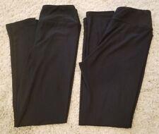 Two Pairs of Lularoe Solid Black Tween Leggings - Pre-Owned