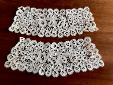 More details for antique victorian cream lace cuffs for dress or costume