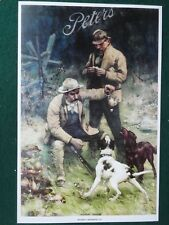 "Peters Cartridge Advertising Poster, Titled ""Noon Hour"", Old Time Hunting Scene"