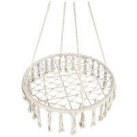 BCP Indoor/Outdoor Handwoven Cotton Macrame Hammock Hanging Chair Swing