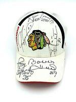 Autographed Chicago Blackhawks Cap - Esposito, Mikita, Roenick, Hull, Savard