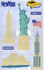*NEW YORK* MRS GROSSMAN'S LARGE STICKERS Lady Liberty Travel Empire State & more