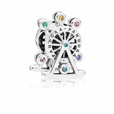 Authentic Pandora Ferris Wheel w/ Multi-Colored Crystal CZ Bead 797199NLCMX
