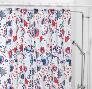 Ikea KRATTEN Shower Curtain 180x180cm ✅ NEW 🔝 FAST DELIVERY Floral Print