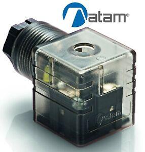 SOLENOID VALVE CONNECTOR PLUG DIN 43650 / EN175301-803 ATAM KA132V56T9
