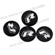 56.5mm R Logo Sticker For VW Car Alloy Wheel Center Hub Cap Replace Badge Emblem