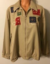 •• Women's Alfred Dunner Size 16 Full Zipper Jacket lightweight Embroidered