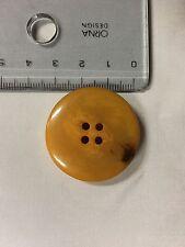 Vintage Bakelite/Cataline Button Large Mottled Butterscotch 3.4cm Button
