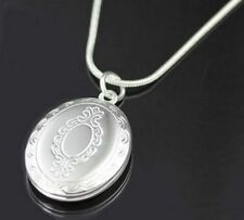 Floating/Keepsake Silver Plated Oval Costume Necklaces & Pendants