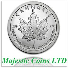 2017 Silver Shield Canada Mock Cannabis 1 oz .999 Silver Round