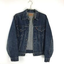 Vintage 1960s Levi'S Big E Denim Jean Jacket Coat Dark Blue Usa Medium 60s