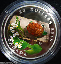 2015 Canada $20 Murano Venetian Glass Turtle 1oz Silver Proof Coin