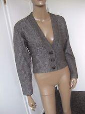 Betty Barclay  traumhafte kurze Strickjacke 38/40  braun/silber mit Wolle