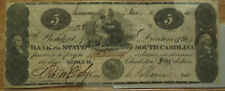 Bank of South Carolina $5 Note Series 566, Tellus, Neptune, Washington, Franklin