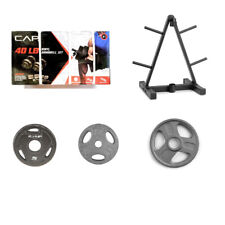 CAP BARBELL WEIDER ADJUSTABLE DUMBBELLS OLYMPIC STANDARD WEIGHT PLATES NEW