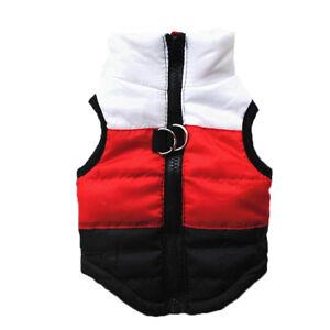 Pet Dog Puppy Warm Padded Jacket Fleece Coat Vest Outwear Clothes Apparel Hoodie