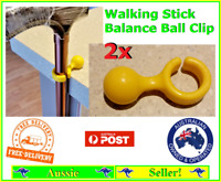 2x Walking Cane Stick Balance Ball Frog Style Clip Easy to Attach NEW