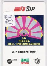 SCHEDA NUOVA NC   136 SMAU 1991 DA LIRE 10.000