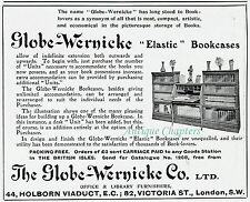 2 x Globe-Wernicke 1909 Advertisement Ad A11