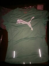Puma Pure Night cat Running Reflective Sports Shirt Fitted Tee Womens Small  12