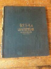 Atlas Plat Lafayette County Wisconsin 1874 History Darlington Belmont Schullsbur