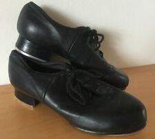 Girls Black Leather BLOCH Split Sole Tap Dance Shoes Size 5M (UK 2)