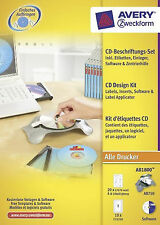 Avery CD Design Kit w Applicator Software Disc Printable Labels Case Inserts NEW