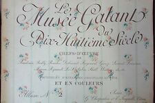 LE MUSEE GALANT du 18éme Siécle LOT de 8 ALBUMS de REPRO ESTAMPES du 18éme